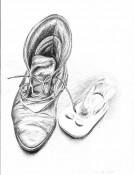 Malen,-Zeichnen,-Schuhe-sw